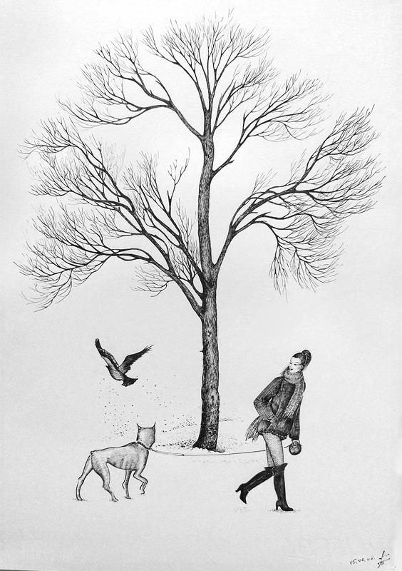 Липа - рисунок. Деревья зимой. Художник ...: tanzilya.ru/graphic-trees-3.php